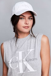 Calvin Klein Canvas Baseball Hat White
