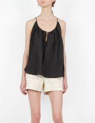 Creatures Of Comfort Lolli Top Silk Linen Black
