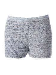 Maison Ullens Fitted Knit Shorts Blue