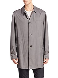Brunello Cucinelli Wool And Silk Long Sleeve Coat Mid Grey