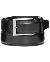Alfani 32Mm Feather Edge Stitch Dress Belt Black