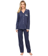 Eileen West Long Pj Set Long Sleeve Mid Blue Women's Pajama Sets
