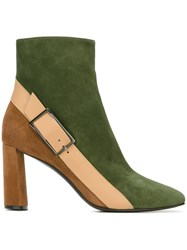 Casadei Buckle Detail Boots Green