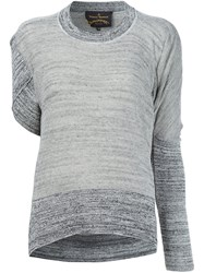 Vivienne Westwood Asymmetric Sleeves Knitted Blouse Grey
