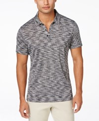 Alfani Black Men's Big And Tall Tobin Marled Polo Only At Macy's Deep Black