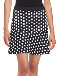 Michael Michael Kors Patterned Skater Skirt