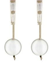 Monique Pean Women's White Diamond And Tahitian Pearl Ear Jackets Colorl Colorless
