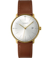 Junghans 027 7700.00 Max Bill Stainless Steel And Leather Automatic Watch Silver