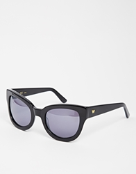 Whistles Suki Square Cat Eye Sunglasses Black