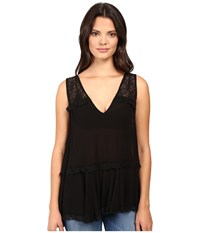 Free People Lace Trapeze Cami Black Women's Pajama