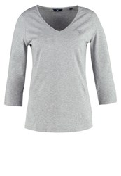 Gant Long Sleeved Top Grey Melange