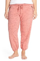 Plus Size Women's Make Model 'Weekend' Jogger Sweatpants Pink Flamingo