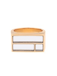 Aurelie Bidermann Bianca Yellow Gold Plated Mirror Ring