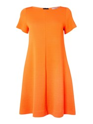 Marella Frank Boat Neck Shift Dress Orange
