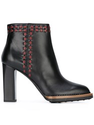 Tod's Stitched Ankle Boots Black