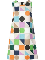 Isa Arfen Geometric Print Shift Dress