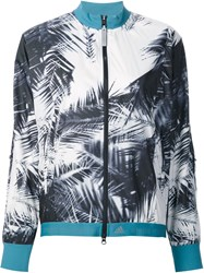 Adidas By Stella Mccartney Palm Print Jacket White