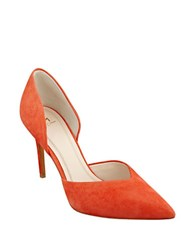 Marc Fisher Tammy Leather Dorsay Pumps Orange