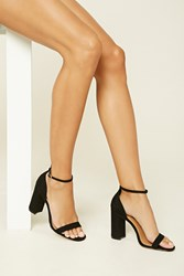 Forever 21 Faux Suede Ankle Strap Heels