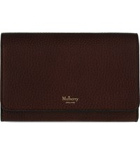 Mulberry Continental Medium Leather Wallet Oxblood