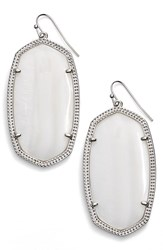 Kendra Scott Women's 'Danielle Large' Oval Statement Earrings White