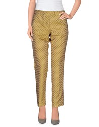 Monocrom Trousers Casual Trousers Women Yellow