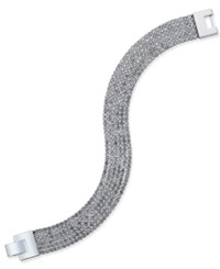 Charter Club Silver Tone Multi Rope Pave Bracelet Only At Macy's