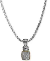 Effy Collection Balissima By Effy Diamond Diamond Rectangle Pendant 1 3 Ct. T.W. In 18K Gold And Sterling Silver