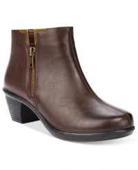 Easy Street Shoes Clear Booties Women's Brown
