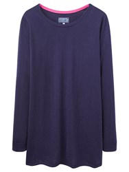 Joules Liza Print Woven Back Jumper Navy