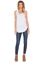 Wilt Shadow Stripe Slanted Tank White