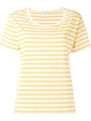Saint Laurent Striped T Shirt Yellow And Orange