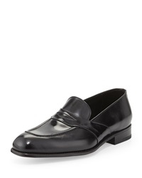 Tom Ford Charles Leather Penny Loafer Black