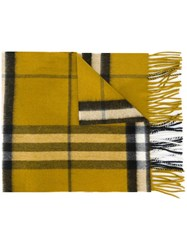 Burberry House Check Scarf Green