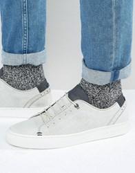 Ted Baker Kiing Suede Trainers White