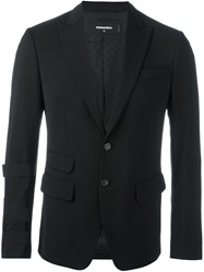 Dsquared2 Buckled Sleeve Blazer Black