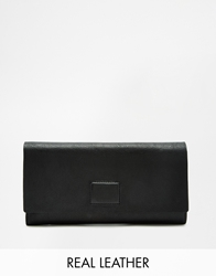 Vagabond Leather Wallet With Magnetic Fastening Black