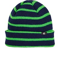 Paul Smith Ps By Men's Striped Rib Knit Lambswool Beanie Navy Green Navy Green
