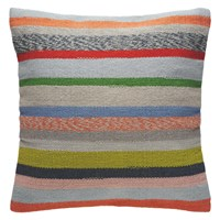 Habitat Abbie Multi Coloured Pastel Stripe Cushion 60 X 60Cm Multi Coloured