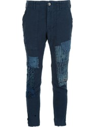 Greg Lauren 'Army' Trousers Blue