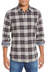 Wallin And Bros 'Signature' Trim Fit Long Sleeve Herringbone Plaid Sport Shirt Gray
