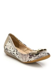 Cole Haan Tali Snake Embossed Leather Ballet Flats