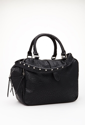 Forever 21 Faux Leather Studded Handle Satchel