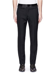 Haider Ackermann Lace Up Satin Waist Pants Black