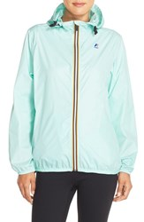 Women's K Way 'Le Vrai Claudette 3.0' Waterproof Raincoat Green Water