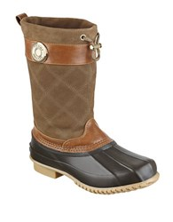 Tommy Hilfiger Arcadia Suede And Rubber Duck Boots Tan