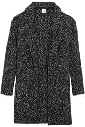 Iris And Ink Maria Textured Knit Wool Blend Cardigan Black