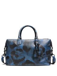Coach Explorer Camo Print Leather Duffle Bag Black Denim Wild Beast