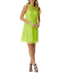 Laundry By Shelli Segal Floral Sheath Dress Lime Punch