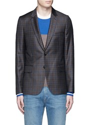 Paul Smith 'Soho' Check Plaid Wool Blazer Brown